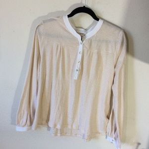 Anthropologie Tops - Anthropologie DOLAN Orange Cream